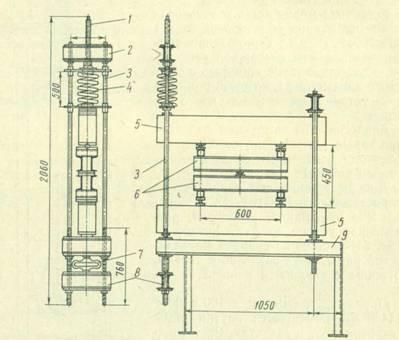 Схема пружинной установки для